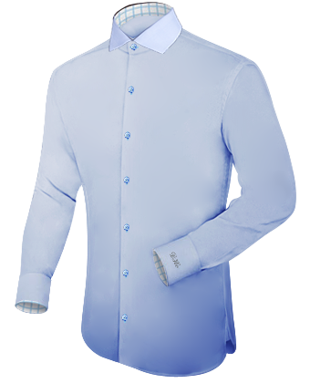 Herrenhemd Lachs with Italian Collar 1 Button