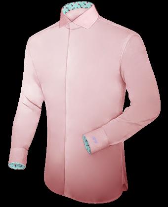 Herrenhemd Nadelstreifen with Italian Collar 1 Button