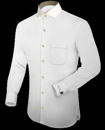 Herrenhemd Small with Italian Collar 1 Button