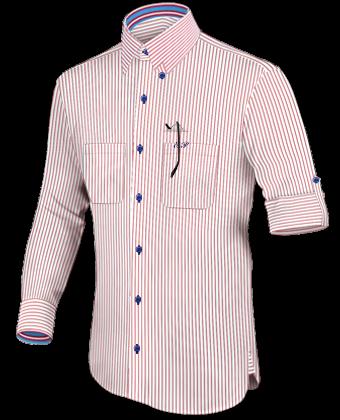 Herrenhemden ärmell�nge 58 Cm with Hidden Button
