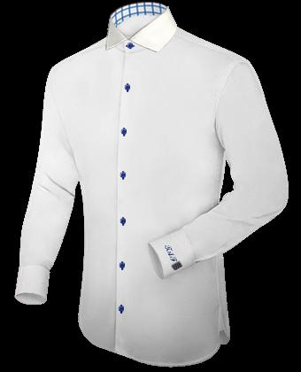 Herrenhemden Doppelmanschette with Italian Collar 1 Button