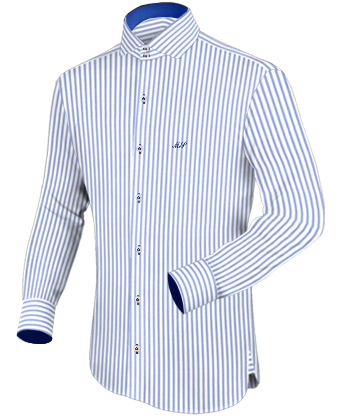 Herrenma��hemd with Italian Collar 2 Button