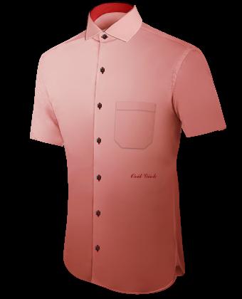 Jersey Oberhemd with Italian Collar 1 Button