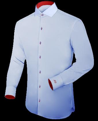 Kragenh�hen Bei Herrenhemden with Italian Collar 1 Button