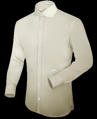 Kragenloses Hemd with English Collar