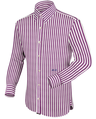 Lila Hemd Gr. 140 with French Collar 1 Button