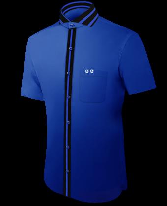 M�nner Hemden with Cut Away 1 Button