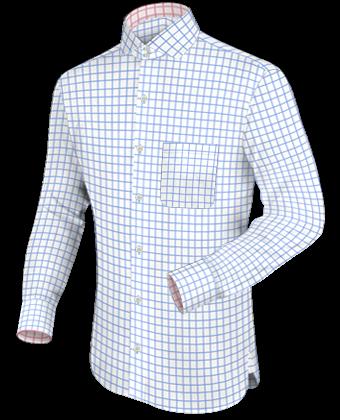 Mas Hemden with Italian Collar 2 Button