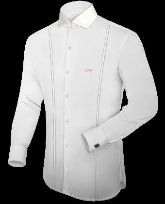 Ma��anfertigung Hemd with Italian Collar 2 Button