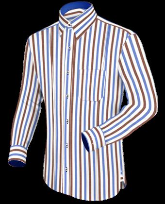 Massgefertigt Hemd with French Collar 1 Button