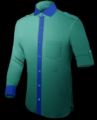 Massgeschneiderte Hemden Berlin with Italian Collar 1 Button
