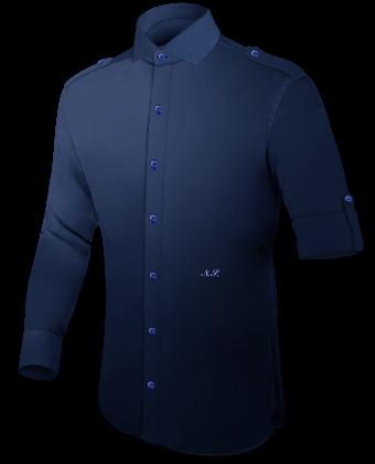 Massgeschneiderte Herrenhemden with Italian Collar 1 Button