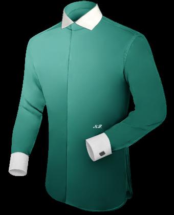Ma��geschneiderte Hemden Discount with Italian Collar 1 Button