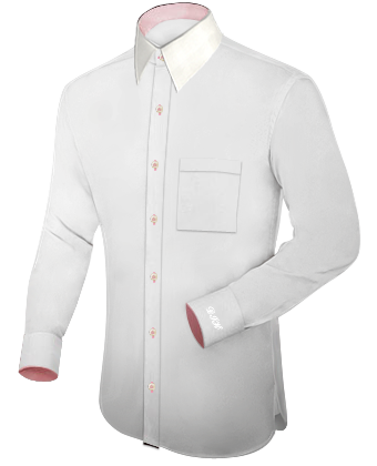 Ma��hemd Internet with French Collar 1 Button