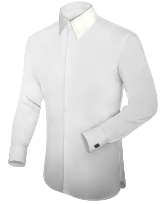 Ma��hemden Dresden with French Collar 1 Button
