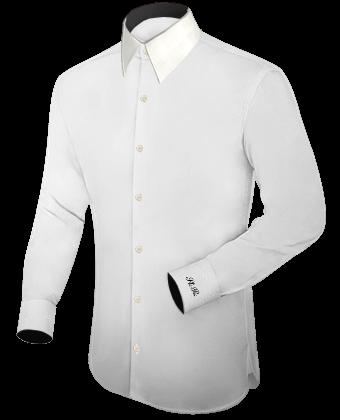 Masshemden Ohne Kragen with French Collar 1 Button
