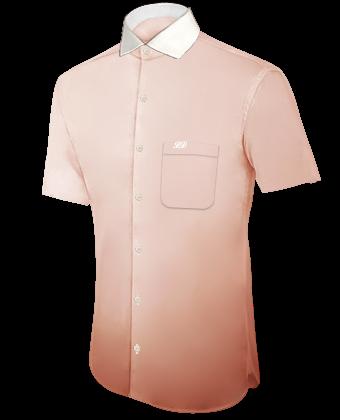 Ma��schneiderei Hemden with Italian Collar 1 Button