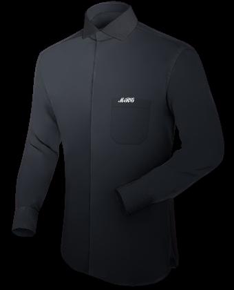 Microfaser Hemd with Italian Collar 1 Button