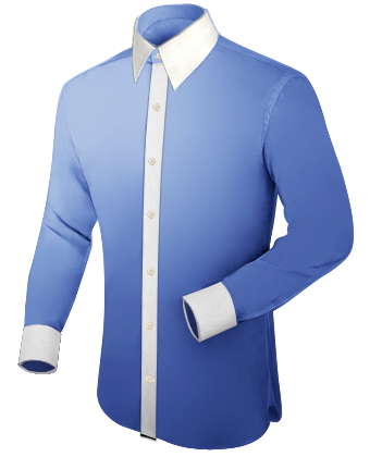 Moderne Oberhemden with French Collar 1 Button