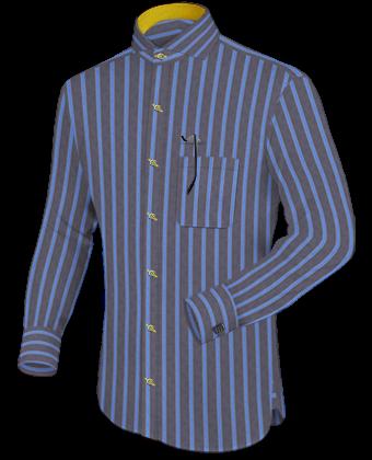 Monogramm Hemd Beispiele with Cut Away 1 Button