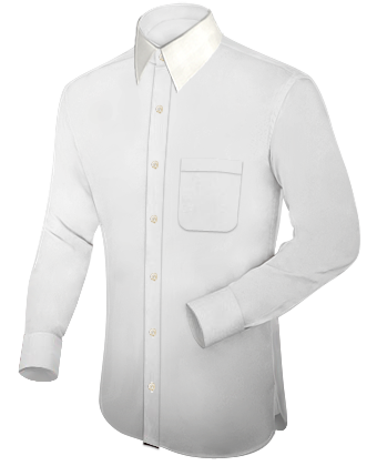 Oberhemd Extra Lang with French Collar 1 Button