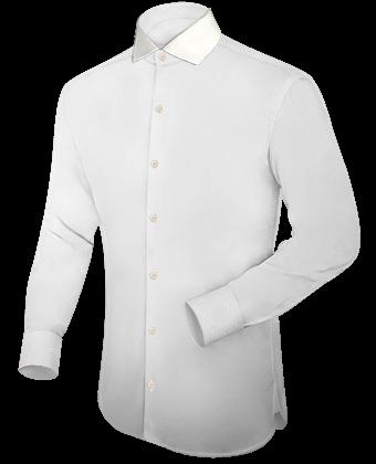 Oberhemd Hellgr�n with Italian Collar 1 Button