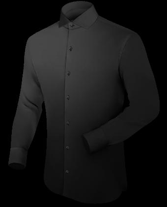 Oberhemd Initialen with Italian Collar 1 Button