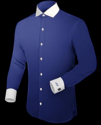 Oberhemd Kragen Wei�� with Italian Collar 1 Button