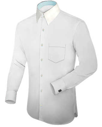 Oberhemd Langer Arm with French Collar 2 Button