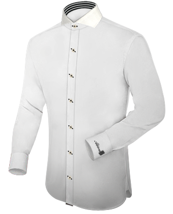 Oberhemd Ma��anfertigung with Cut Away 1 Button