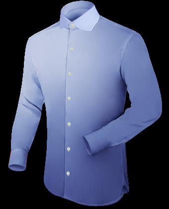 Oberhemd Rot with English Collar