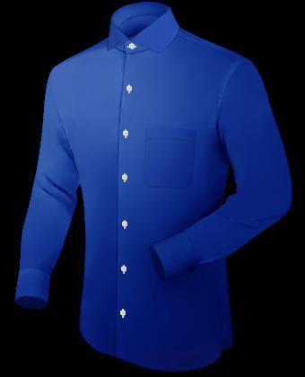 Oberhemden Herren with Italian Collar 1 Button