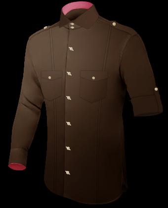 Oberhemden Herrenhemden with Italian Collar 2 Button