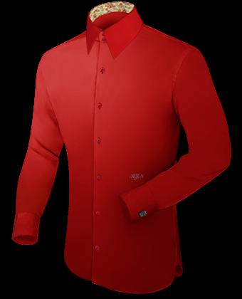 Oberhemden Wei�� Slimline with French Collar 2 Button