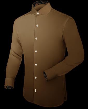 Offizierskragen Hemd with Italian Collar 1 Button