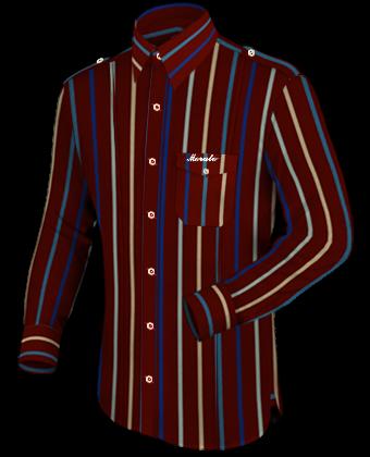 Online Schneiderei with French Collar 1 Button