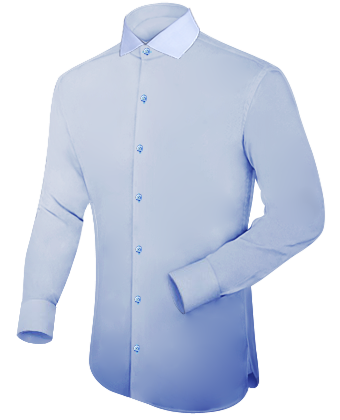 Orangenes Hemd with Italian Collar 1 Button