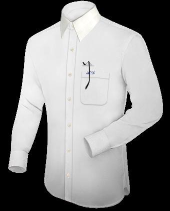 Produktion Von Herrenhemden Nach Eigenem Design with French Collar 1 Button