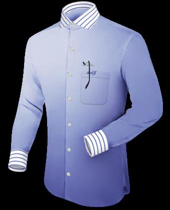 R�schenhemd F�r Herren with Italian Collar 2 Button