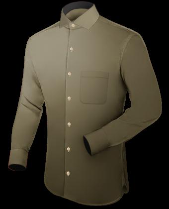 Schneiderei Hemden with Italian Collar 1 Button