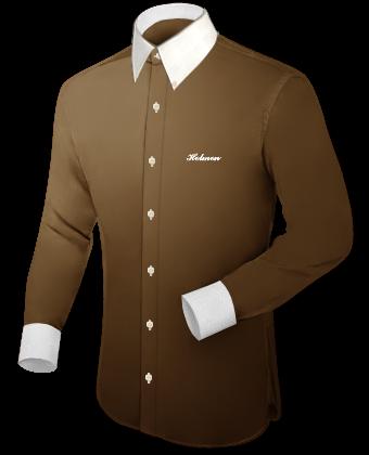 Schwarze Herrenhemden with Button Down