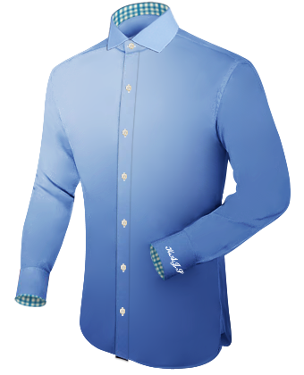 Shirts With Shorter Sleeves with Italian Collar 1 Button
