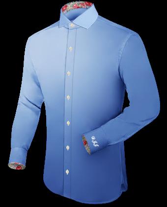 Slim Hemd M with Italian Collar 1 Button