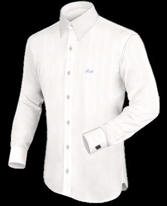 Slimline Hemden Extra Langer Arm with French Collar 1 Button
