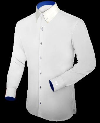 Spatenkragen Am Herrenhemd with Hidden Button