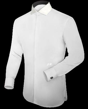 Stehbund Kragen with Italian Collar 2 Button