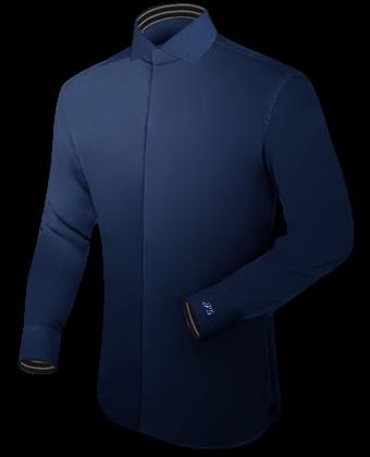 Stehkragen Hemd Royal Gelb with Italian Collar 1 Button