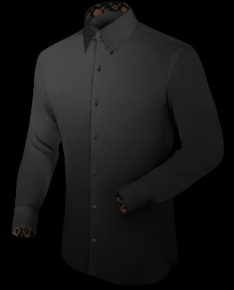 Stehkragenhemden K�nstler with Hidden Button