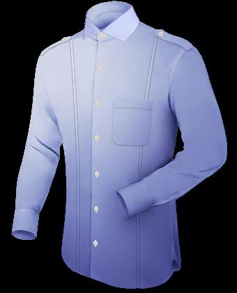 Tab Hemden with Italian Collar 1 Button
