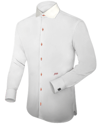 Tab Kragen Hemd with English Collar